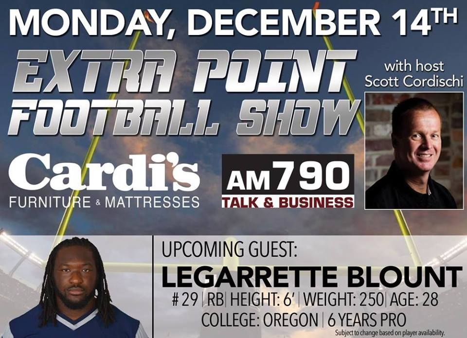 ***CANCELLED*** #NewEngland Player #LeGarretteBlount At #CardisFurniture  #SouthAttleboro For The Cardiu0027s Furniture Extra Point #Football Show On  Monday, ...