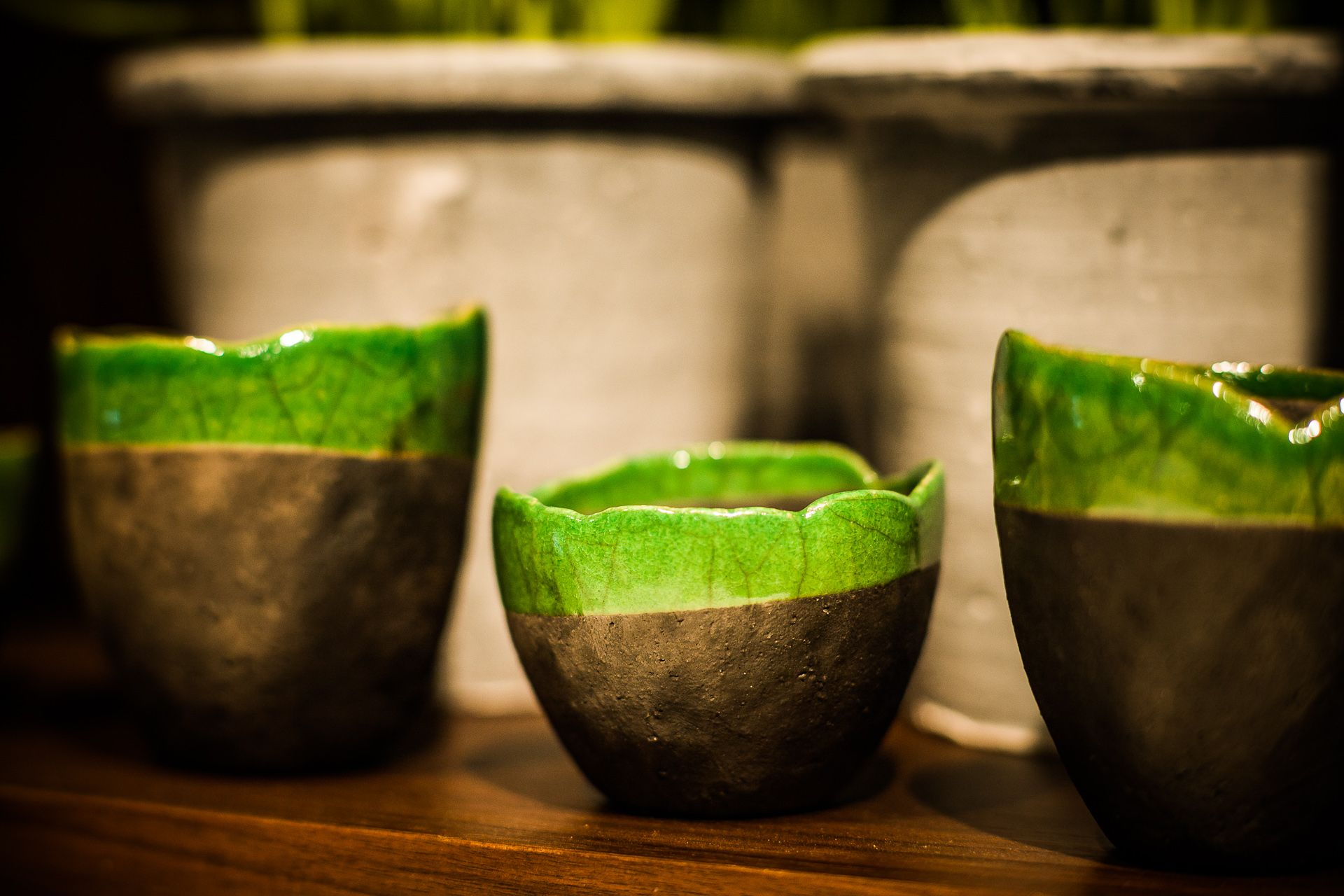 Unique Fes vases made out of Raku, available at Winston