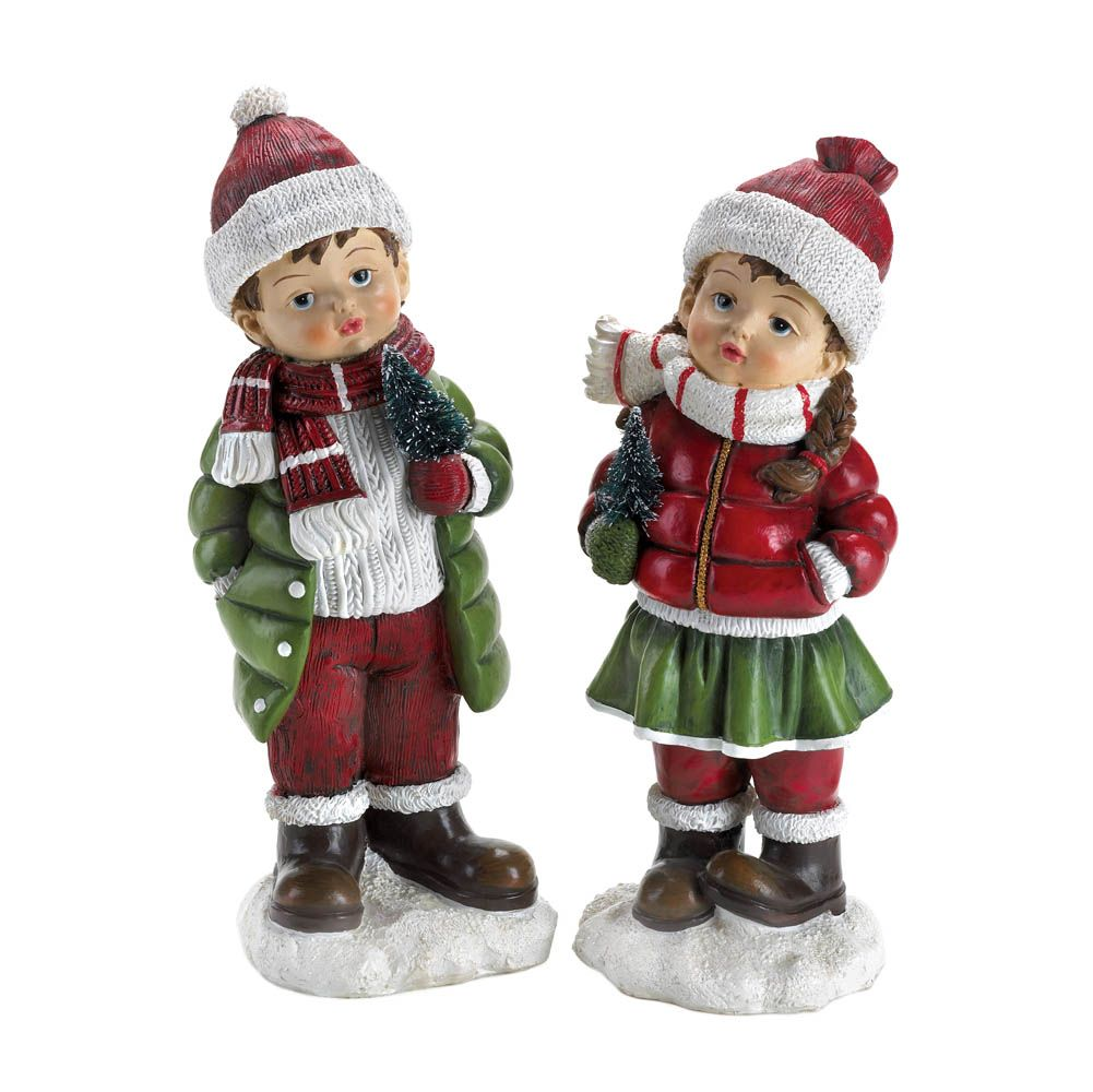 $19.95 #10016050 HOLLY & NOEL HOLIDAY FIGURINES Holly and Noel have ...