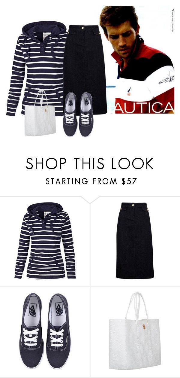 """""""SEASIDE STYLE"""" by minnieleehaven ❤ liked on Polyvore featuring Nautica, Fat Face, Viyella, Vans and Joie"""