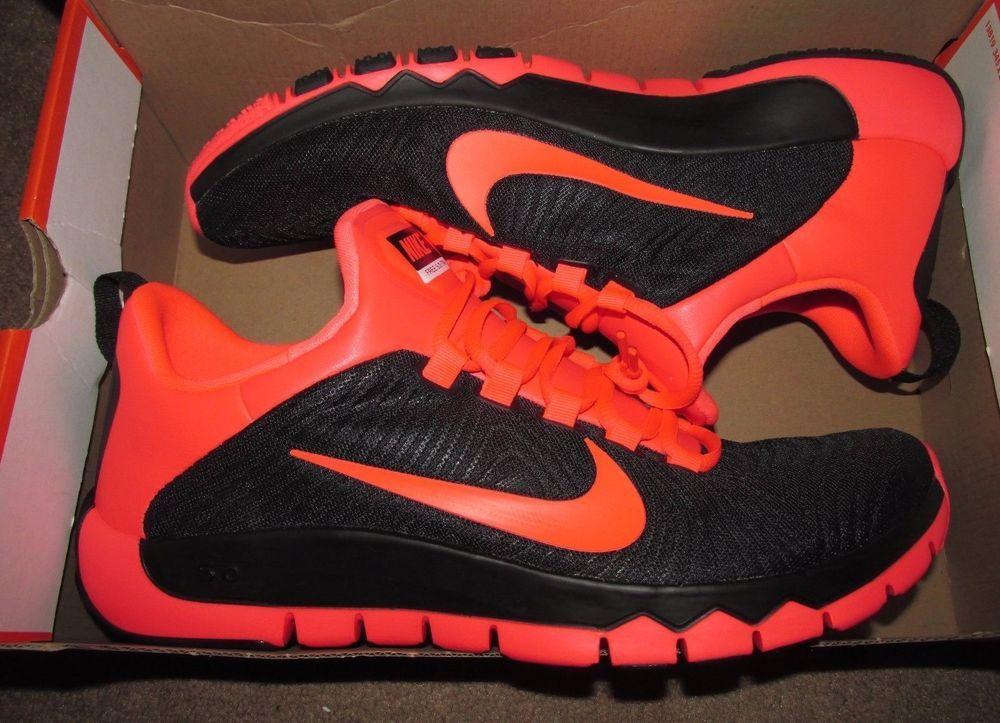 Nike Free Trainer 5 0 V5 Mens Shoes 12 Black Hyper Punch 644671 060 Nike Runningcrosstraining Nike Free Trainer Nike Men Nike