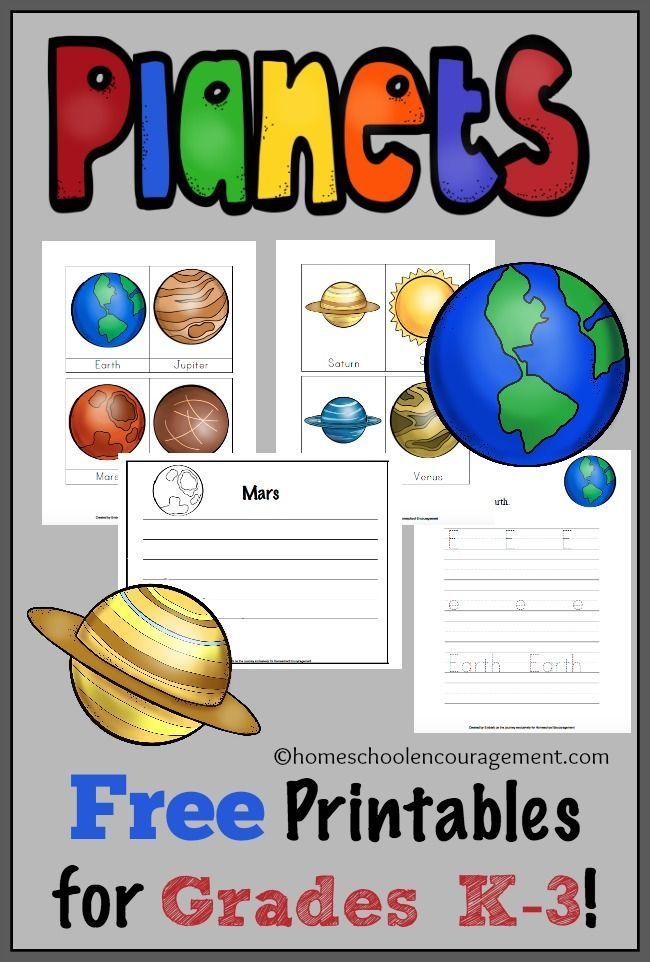 Free Solar System Printables for Grades K3 Plas and