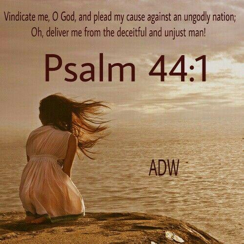 Psalm 44:1 | Psalms, Bible psalms, Faith bible