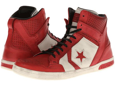 1ee702a0ffb Red Converse by John Varvatos Weapon Mid