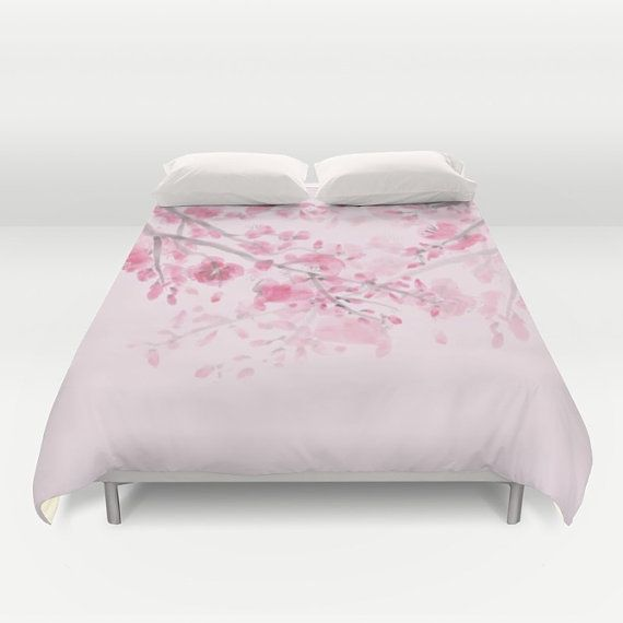Pink Cherry Blossom Duvet Cover Or Comforter By Artfullyfeathered