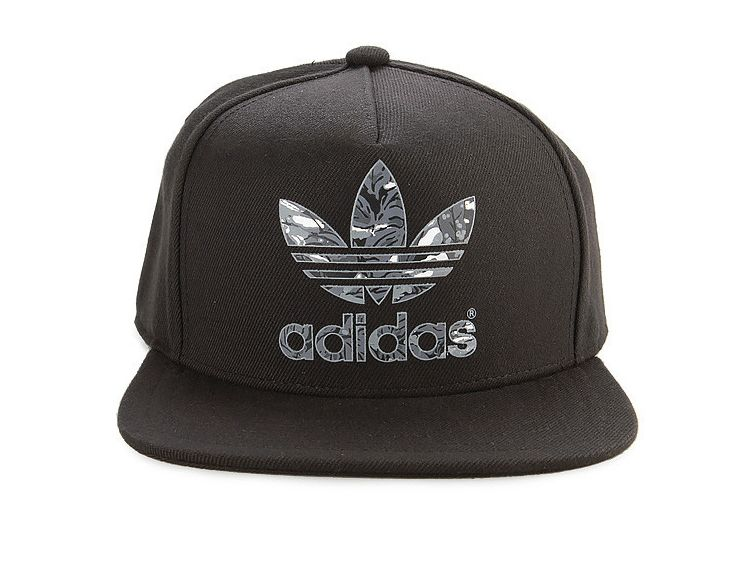 AC Fitted Cap by Adidas. Black flat cap with Adidas logo on front 6484878a7a08