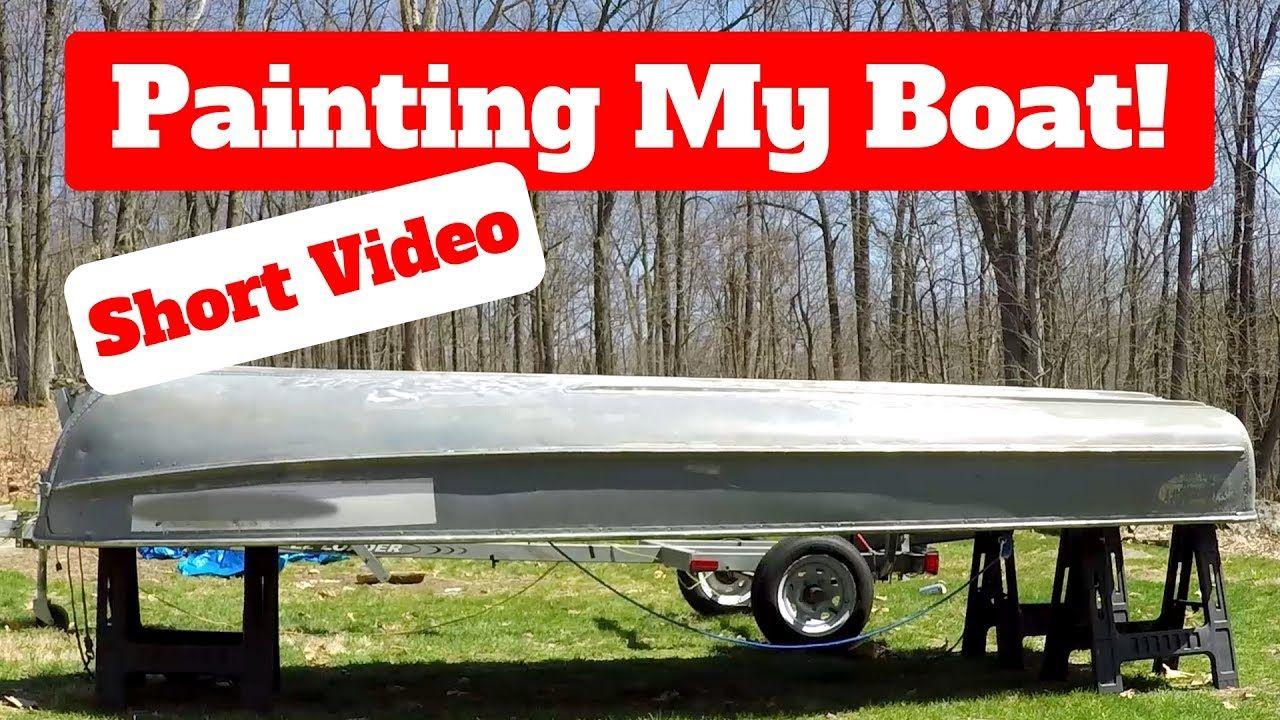 How to paint an aluminum boat short video aluminum