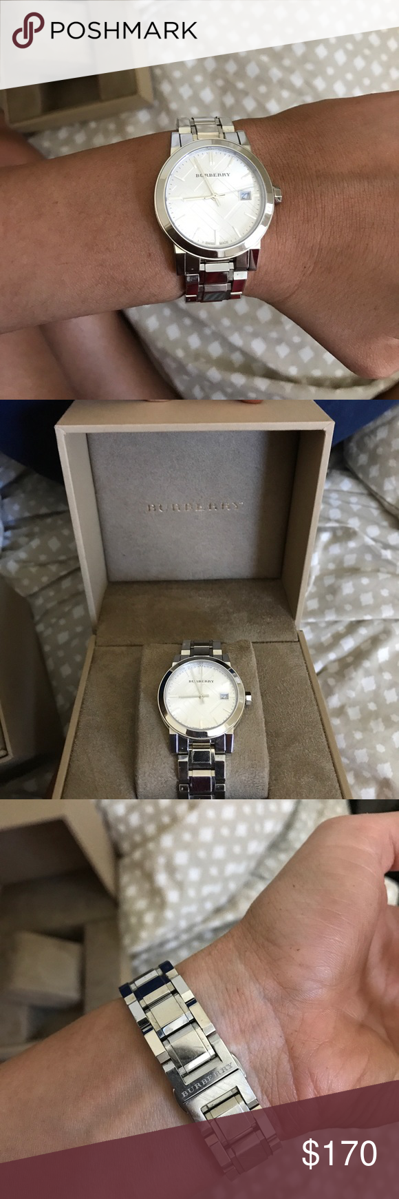 f93607f4bd5 Burberry BU1900 watch Small men's or larger women's. Used good condition.  Bought in Jan 2017 from nordstrom. Priced to sell, no extra links Burberry  ...