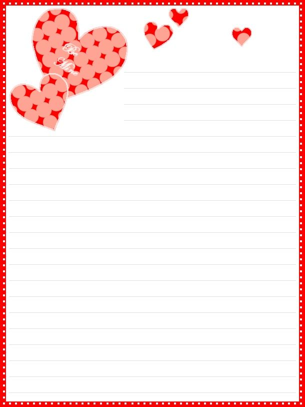 Lovely FREE Printable Valentineu0027s Day Lined Stationery  Lined Stationary Template