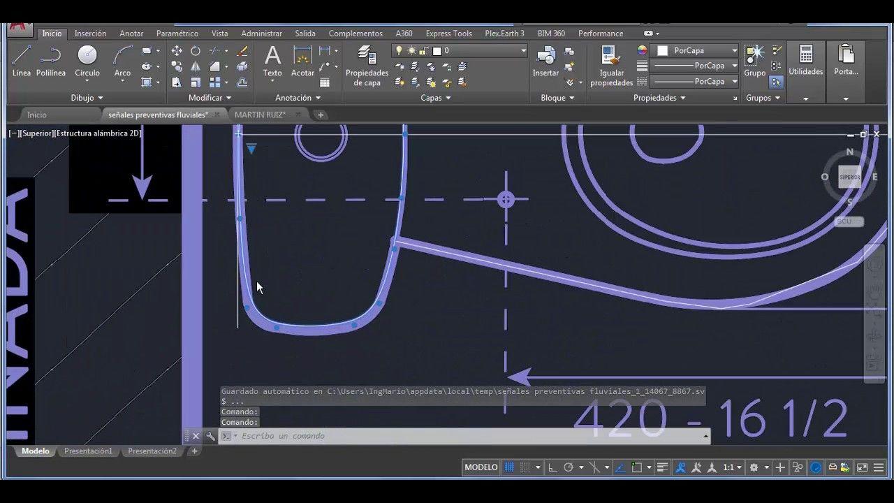 Como Dibujar Estilo Libre En Autocad Lineas Redondeadas Autocad Como Dibujar Dibujo Facil