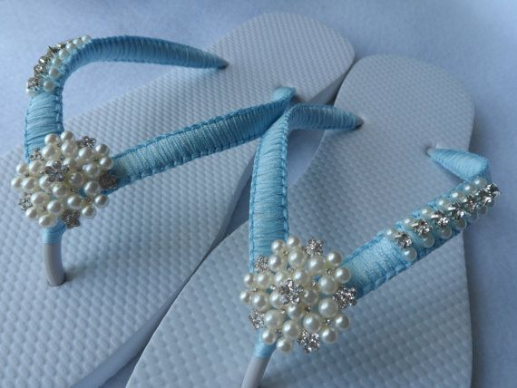 Hochzeit Farbe Flip Flops Sandalen Turquoise Von