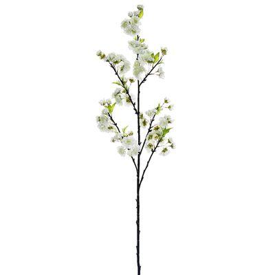 45 Silk Cherry Blossom Flower Spray White Blossom Stem