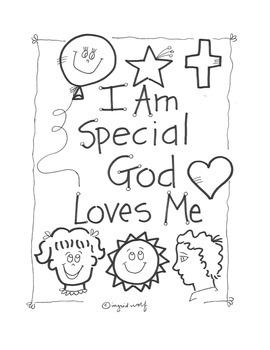 Christian / Catholic I am Special Activity booklet
