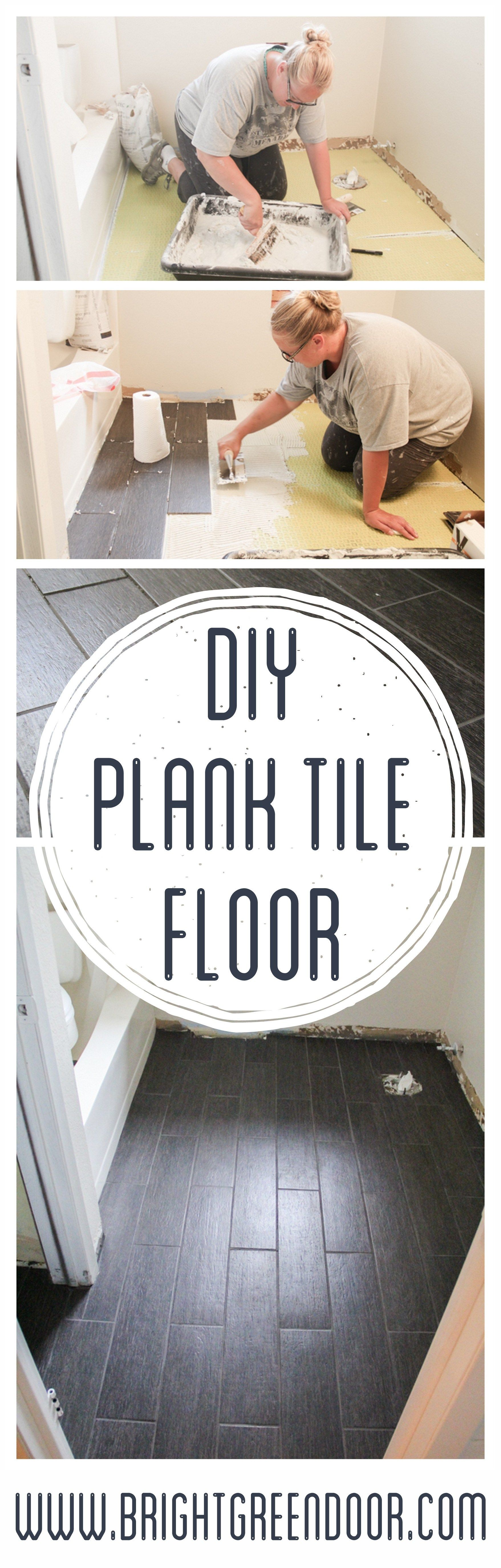 DIY Plank Tile Floor Fail | Tile flooring, Plank and House