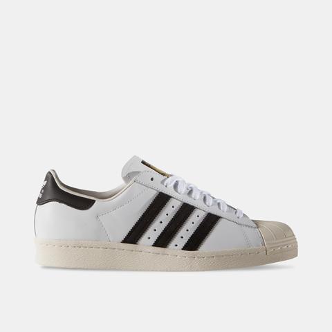 Zapatilla Adidas Superstar 80s White Black Blanco Negro
