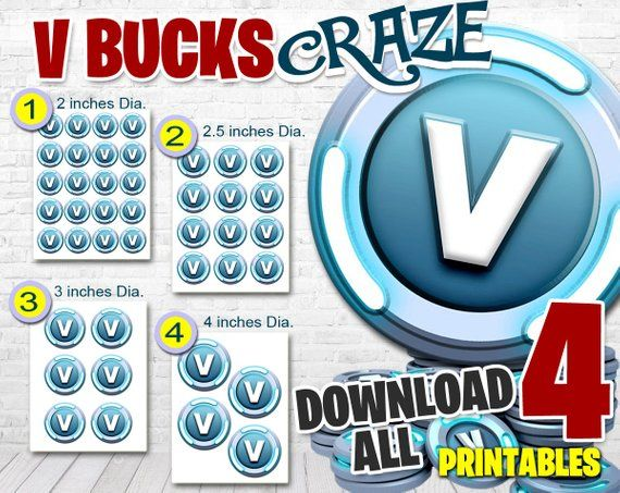vbucks gift card fortnite fortnite v bucks party decor vbucks 9227