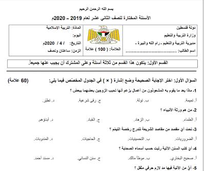 اسئلة مختارة في امتحان التربية الاسلامية التوجيهي للتقييم الذاتي مجابة Math Pc Games Download Blog Posts