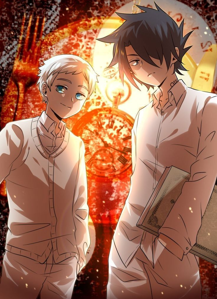 """Imágenes """"Ray x Norman"""" ♥ in 2020 Anime, Neverland art"""