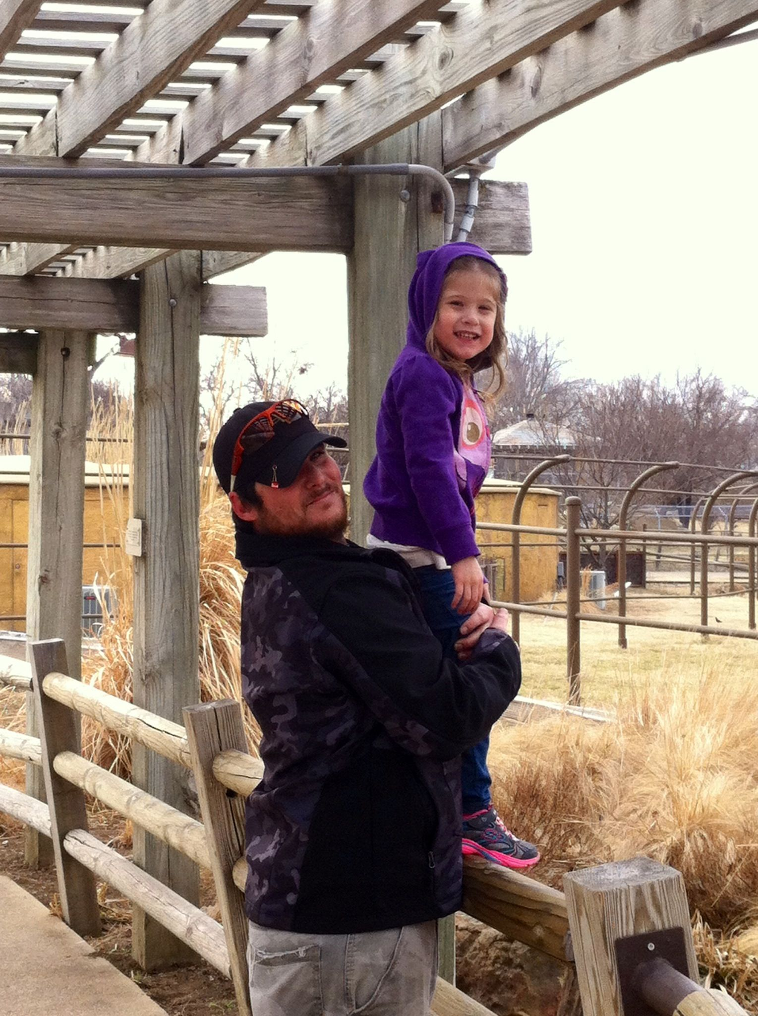 My awesome kiddo w/her dad @ the zoo.