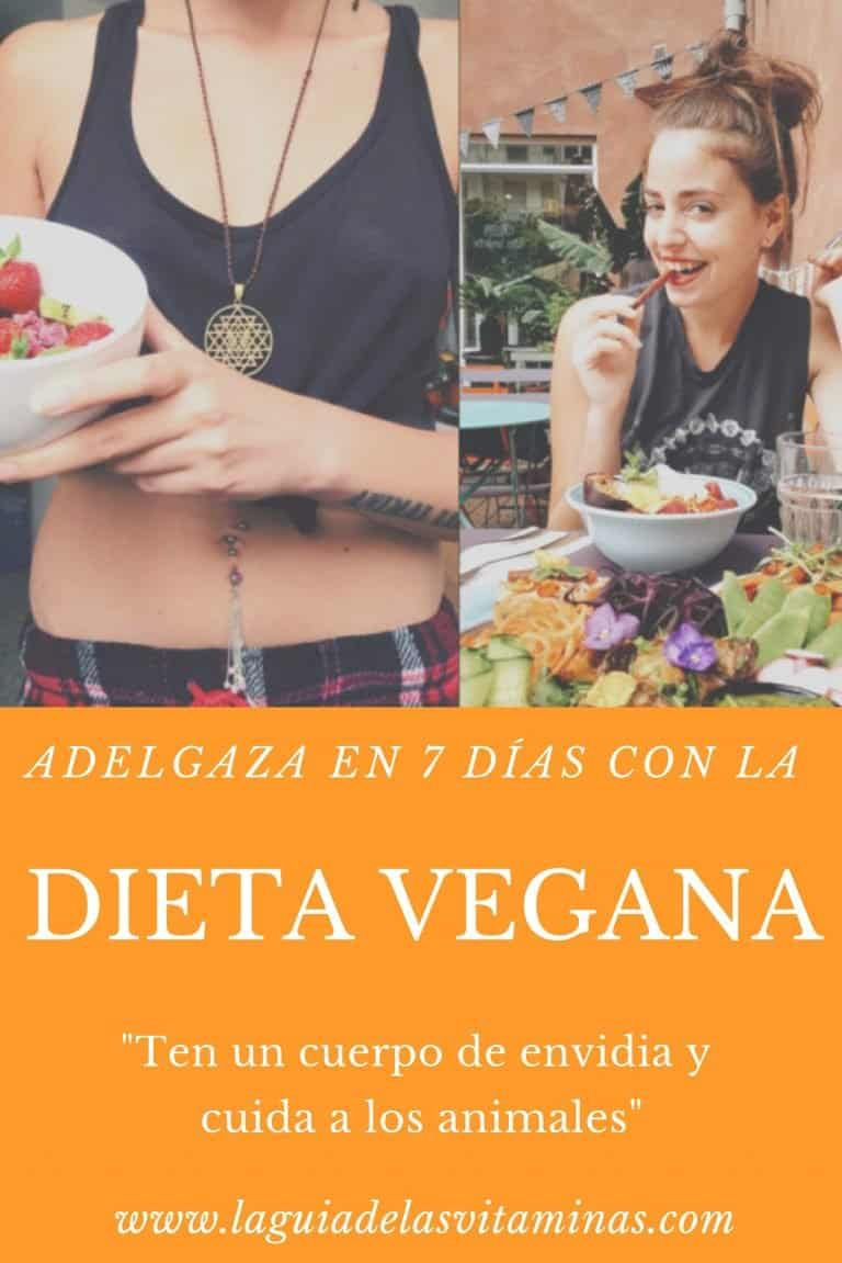7 días dieta plan vegetarianos pérdida de peso