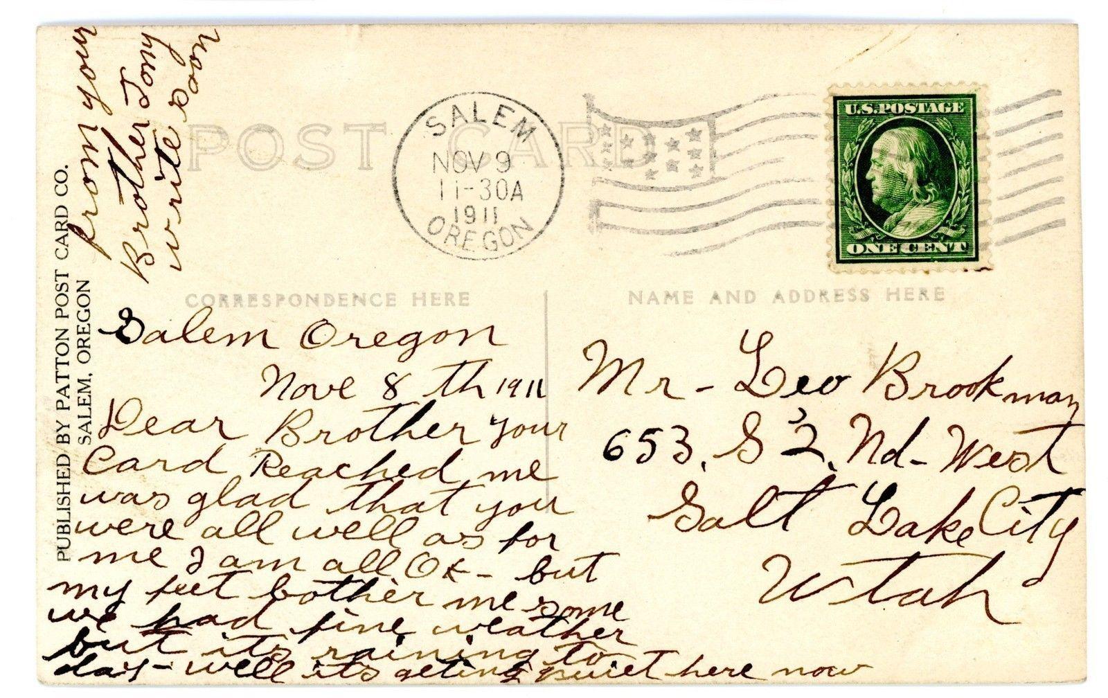 Salem or President William Taft Speech 1911 RPPC Patton Postcard Oregon | eBay
