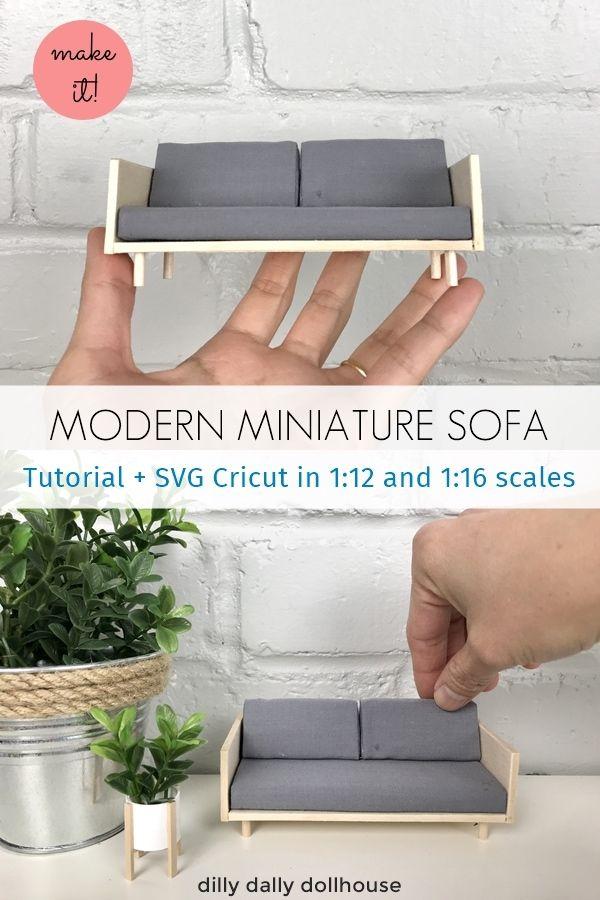Modern Miniature Sofa - Tutorial