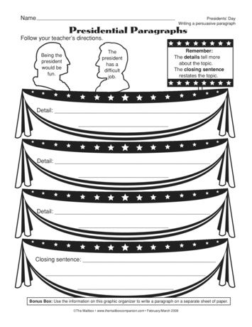 This graphic organizer is the first step of a paragraph