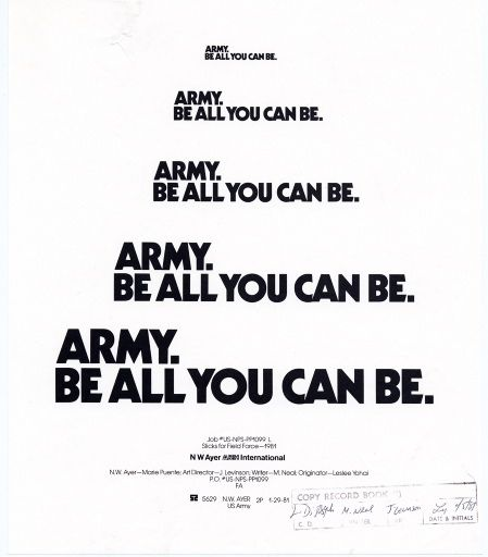 Army-Be All That You Can Be Army, Sons and American history - army memo