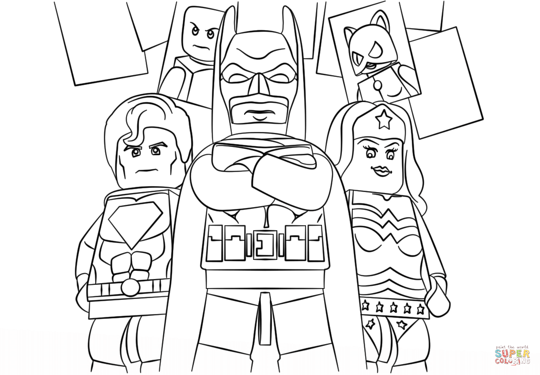 Lego Superheroes para colorear, Dibujos faciles para