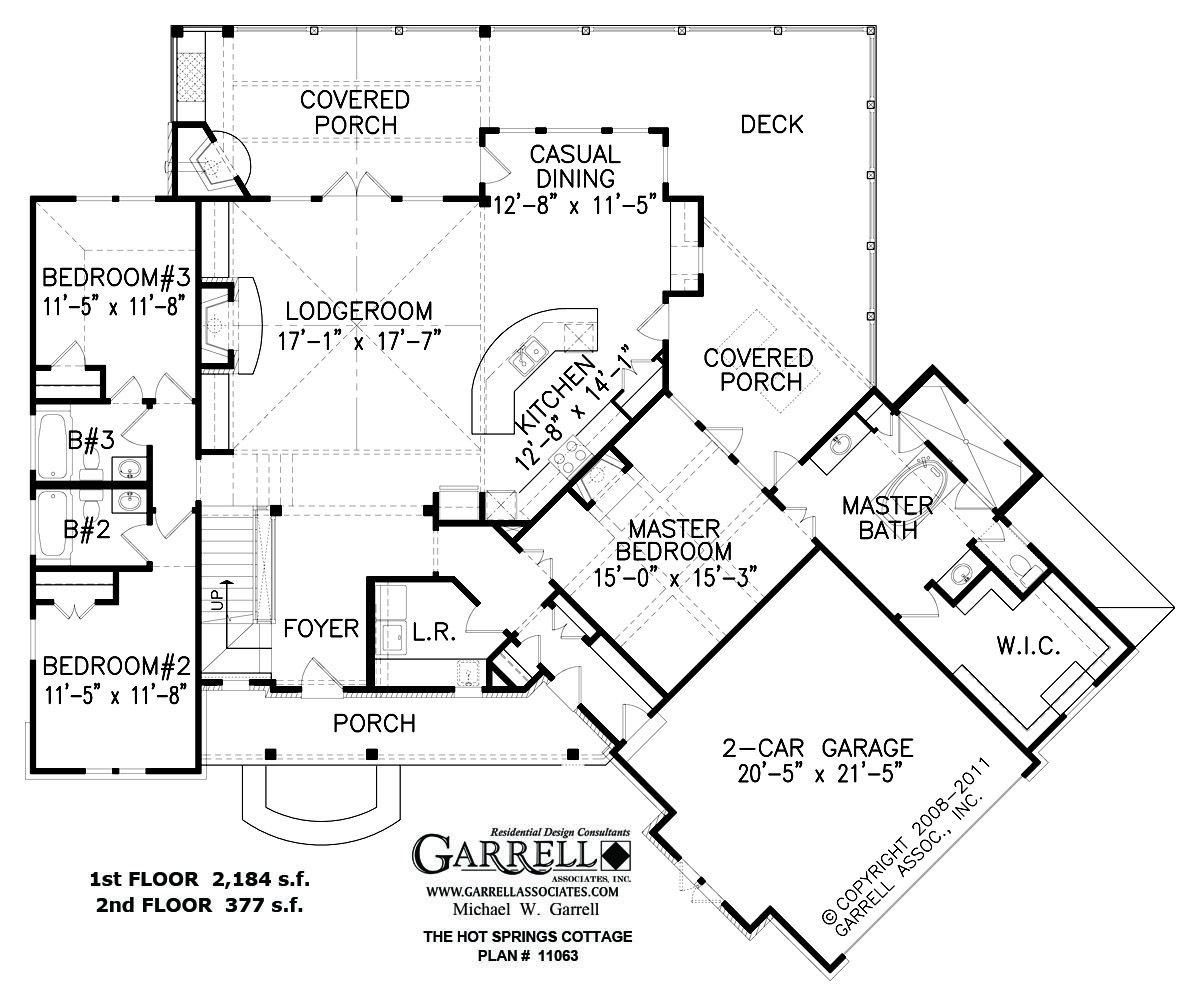 Hot Springs Cottage House Plan First Floor Plan
