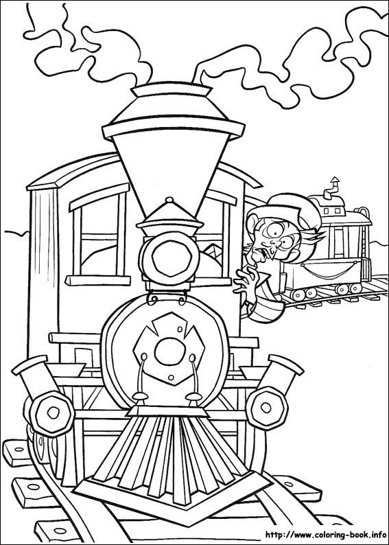 Home on the Range coloring picture | Train coloring pages ...