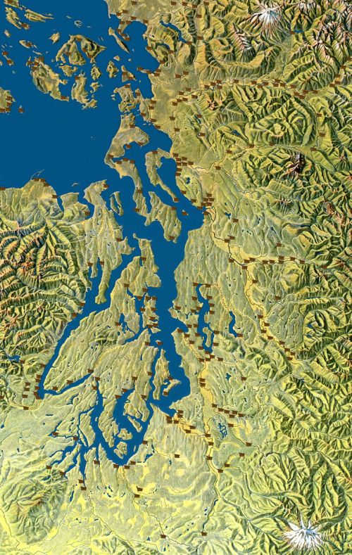 Salish Villages Of Puget Sound Coast Map City Photo