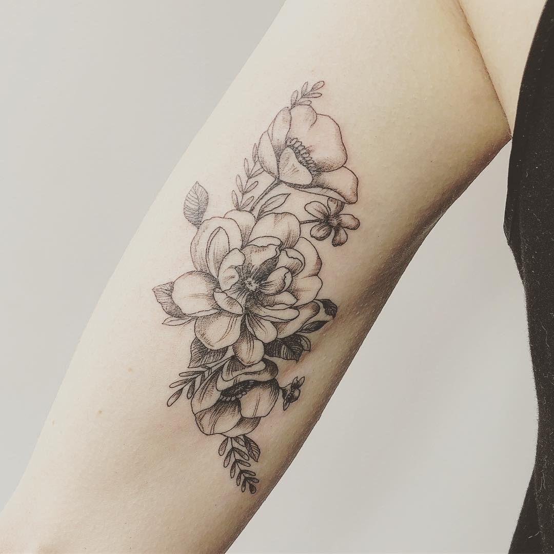 Carin silver on instagram flowertattoo done at