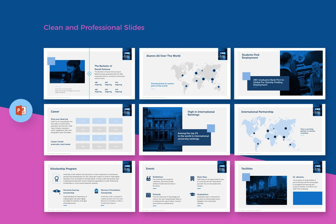 University Education - PowerPoint Template, #Education #University  #Template #PowerPoint #PowerPoint | Powerpoint templates, Powerpoint,  Presentation templates