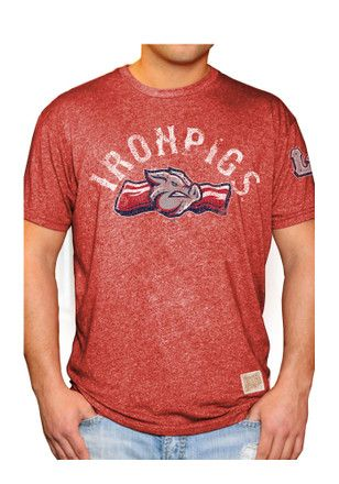 the latest e0d4e 7d51a Original Retro Brand Lehigh Valley Mens Red Mock Twist Fashion Tee