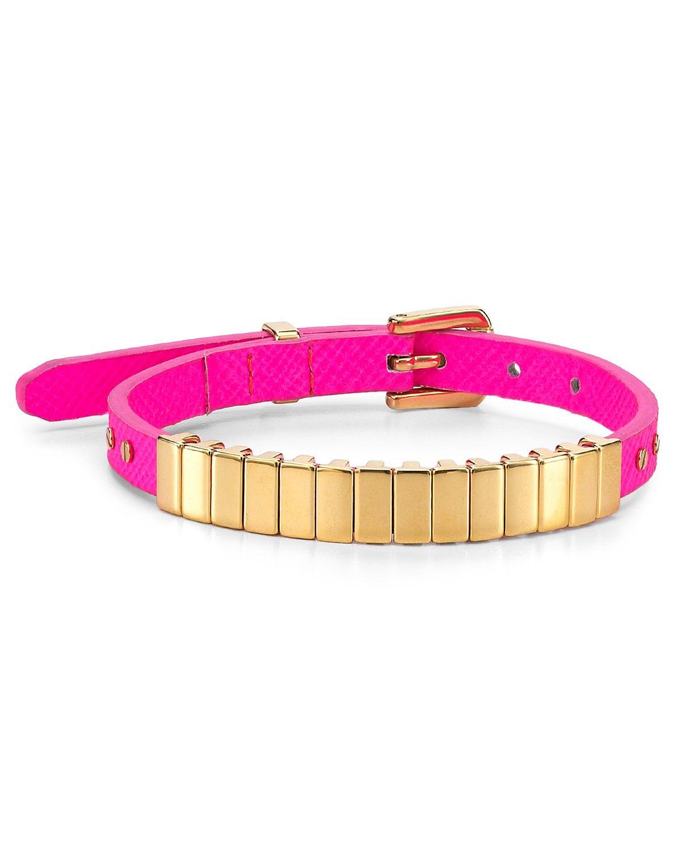 Michael Kors Darrington Single Wrap Saffiano Leather Bracelet | Bloomingdale's