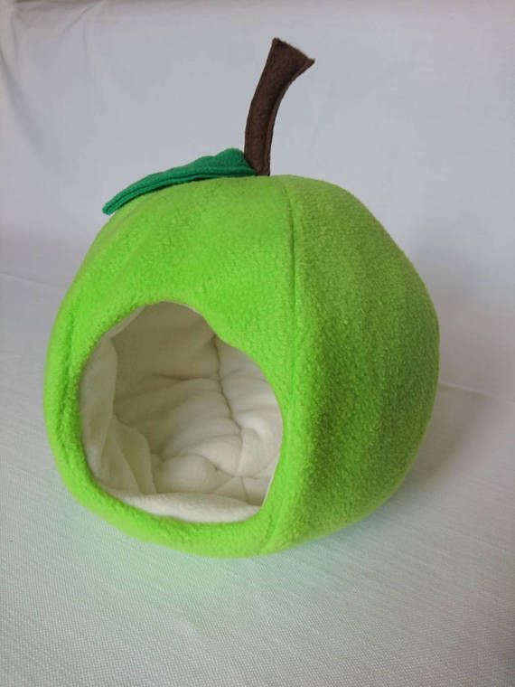 Apple Fleece House For Guinea Pig Pygmy Hedgehog Degu