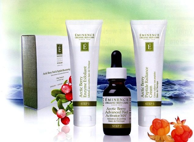 Want Smooth Glowing And Even Skin Tone The Eminence Organics Arctic Berry Illuminating System Del Eminence Organic Skin Care Peptide Cream Organic Skin Care