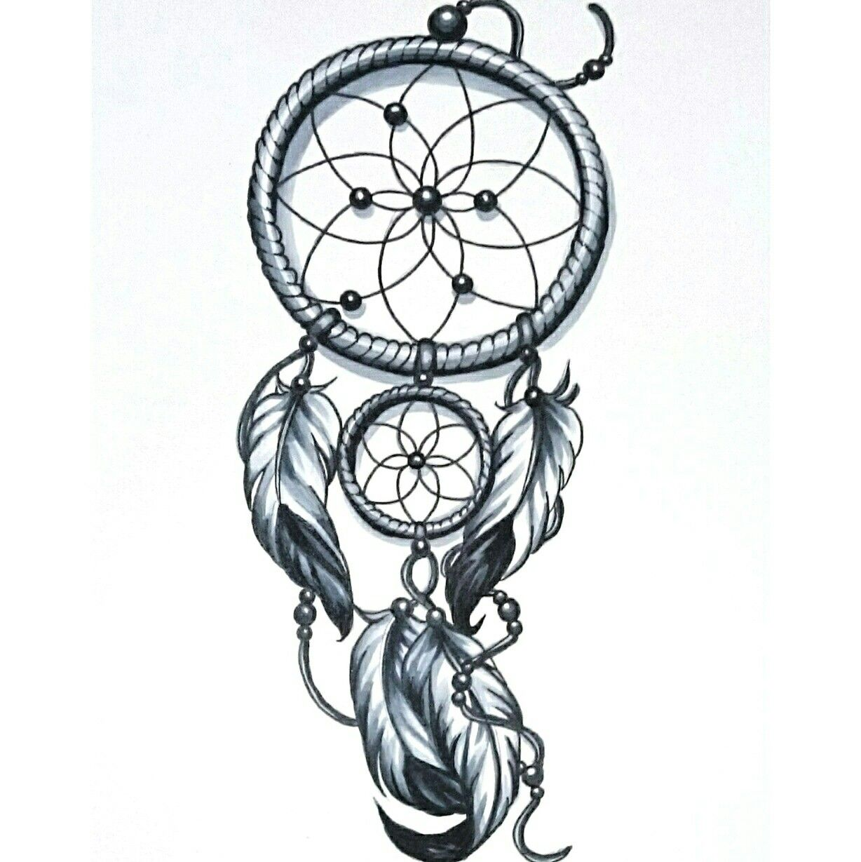 Skinevolutiontattoo konomi konomiangel tattoo design for Dreamcatcher tattoo template