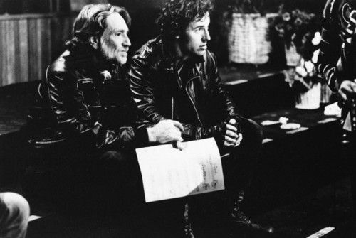 Bruce Springsteen & Willie Nelson, at We are the World