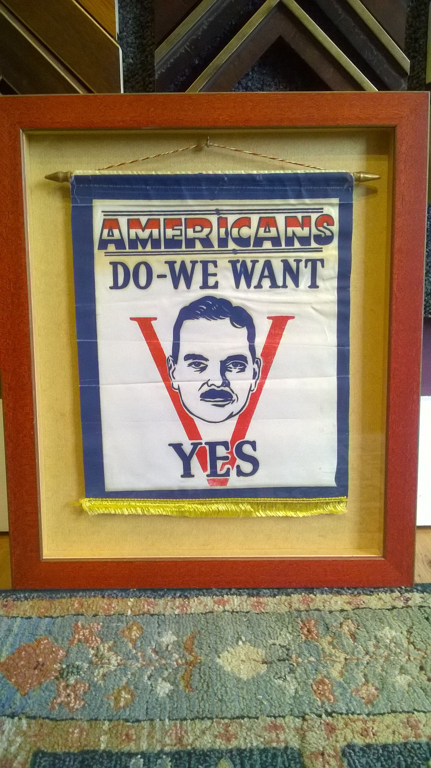 Custom Shadow Box for Dewey Banner   Some Things We\'ve Framed at the ...