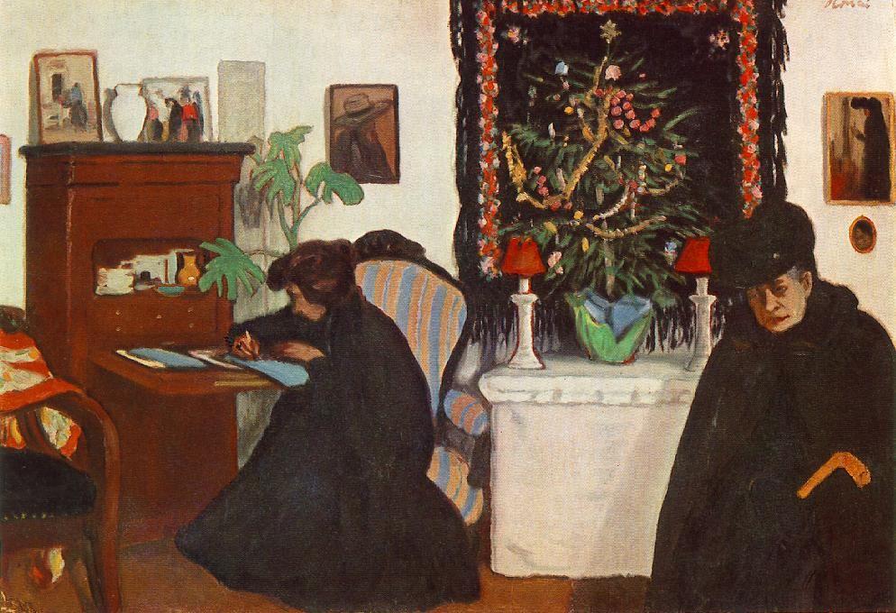The Athenaeum - Christmas (József Rippl-Rónai - )