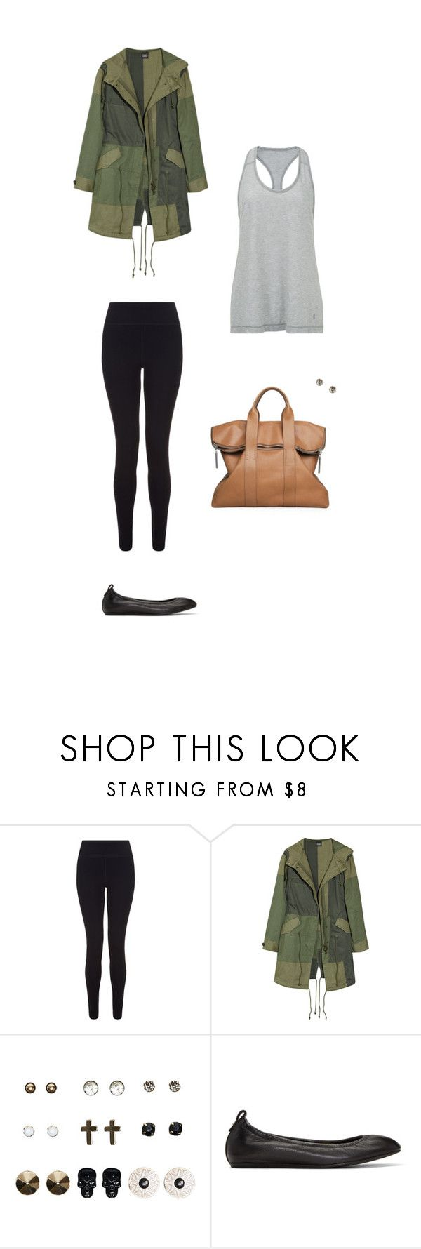 """Patchwork Parka"" by coolchick1630 ❤ liked on Polyvore featuring Sweaty Betty, Edun, 3.1 Phillip Lim, Wet Seal and Lanvin"