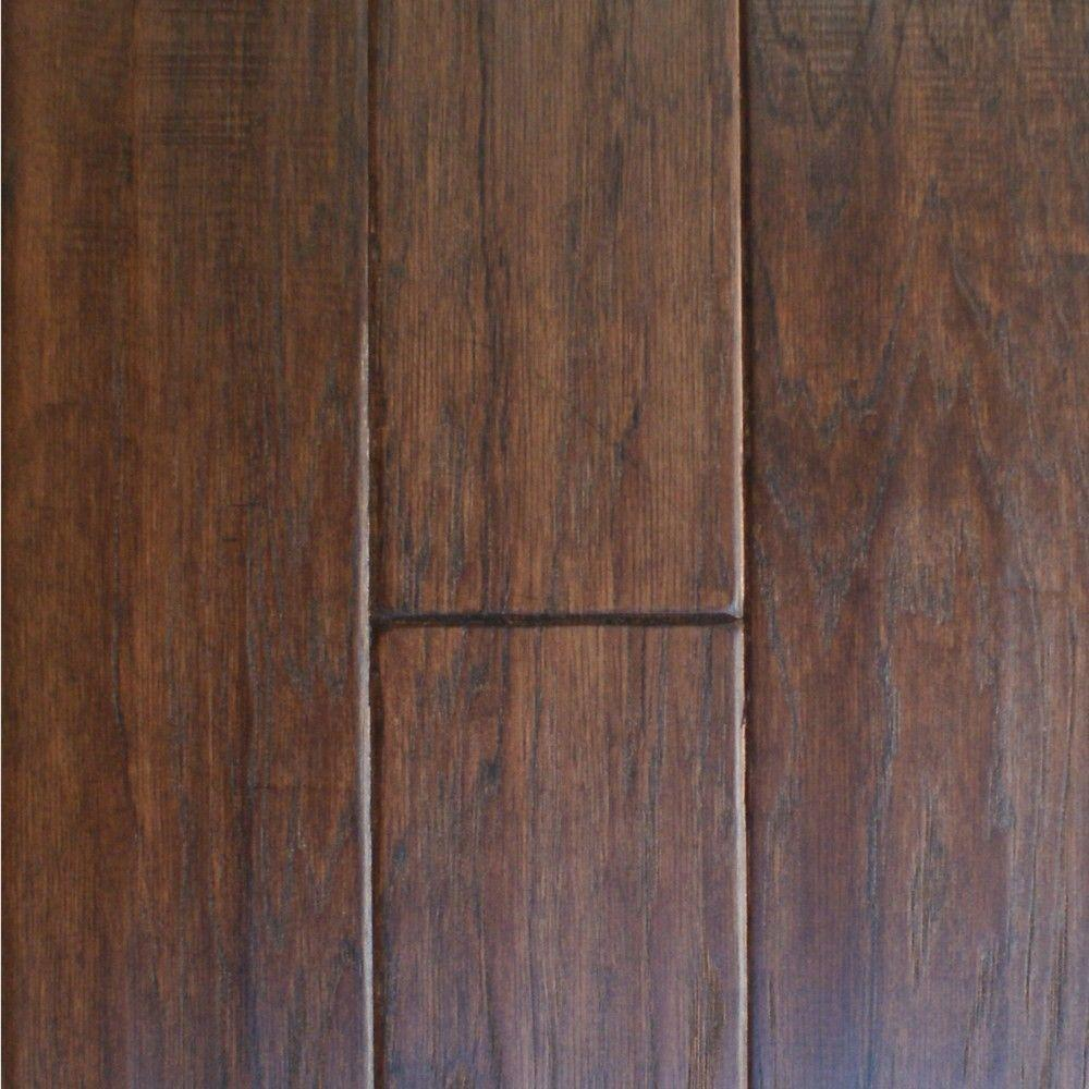Take Home Sample Hand Scraped Hickory Cocoa Brown Engineered