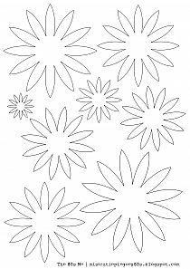 Kirigami Szablony Do Druku Szukaj W Google Paper Flower Template Flower Template Paper Flowers Craft
