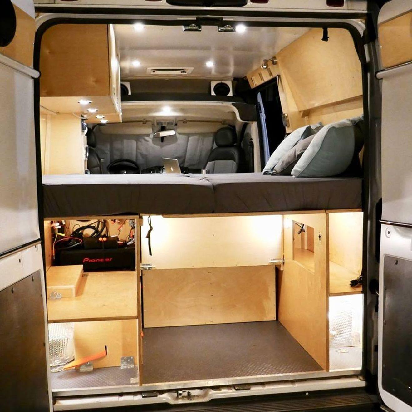 Affordable Camper Van Comes With A Rooftop Deck Camper Van Conversion Diy Truck Campers For Sale Used Camper Vans