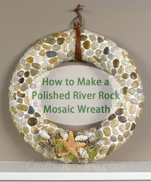Another summer beach wreath tutorial from crafts 39 n coffee for Crafts made from rocks
