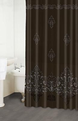 Paloma Chocolate Shower Curtain