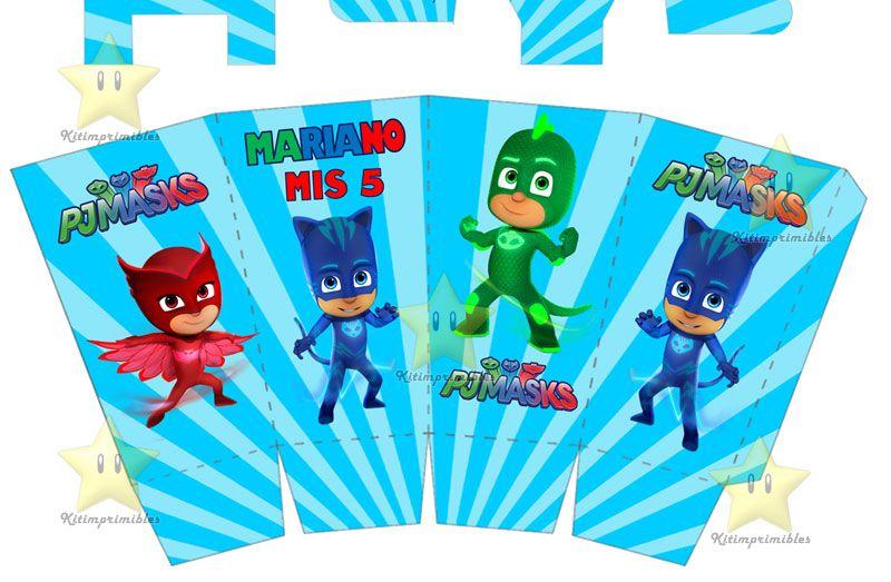 93bc391509 Kit Imprimible Pj Mask Heroes En Pijama Cumples Y Mas - Bs. 2.900