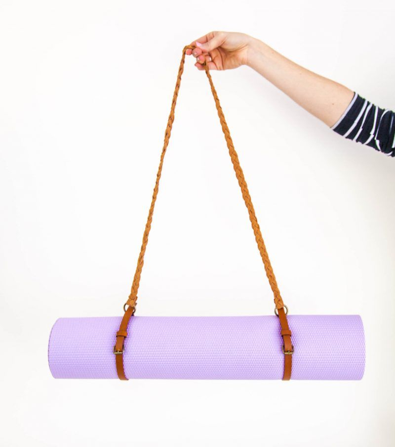 DIY Leather Belt Yoga Mat Strap Upcycle